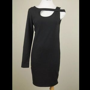 MINKPINK Black Asymmetrical Cocktail Dress L